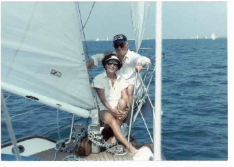 Ellie and Al sailing
