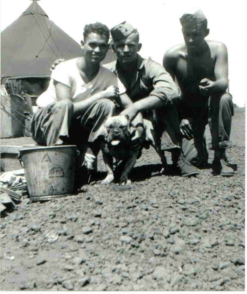 4th Marine Division Al Perry and devil dog on Maui